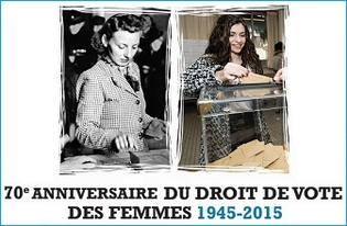 29 avril 1945 29 avril 2015 70e anniversaire du droit de vote des femmes en france. Black Bedroom Furniture Sets. Home Design Ideas