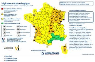 Alerte météo : vigilance orange pour vent - Point de situation à 16h