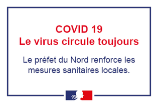 Covid-19 : le département du Nord en zone de circulation active du virus
