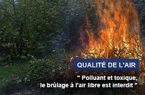 Qualité de l'air - Brûlage des déchets à l'air libre : une pratique interdite