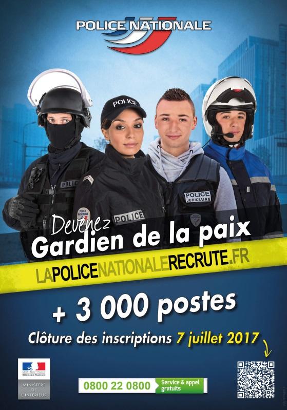 a7a62a2d7e9 Concours gardien de la paix 2017