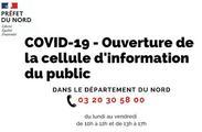 COVID-19 - Ouverture de la cellule d'information du public