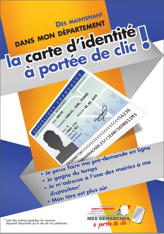 Flyer Recto National La Carte Identite A Portee De Clic