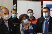 Le CHU de Lille et la ville de Lille ont organisé un centre de vaccination au Zénith, ouvert à partir du 6 avril.