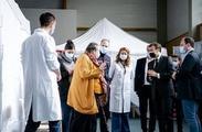 Le Président de la République en déplacement à Valenciennes concernant la vaccination