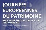 Les inscriptions à la 38e édition des Journées européennes du patrimoine sont lancées. Elles auront lieu les 18 et 19 septembre 2021 avec pour thème « Patrimoine pour tous »