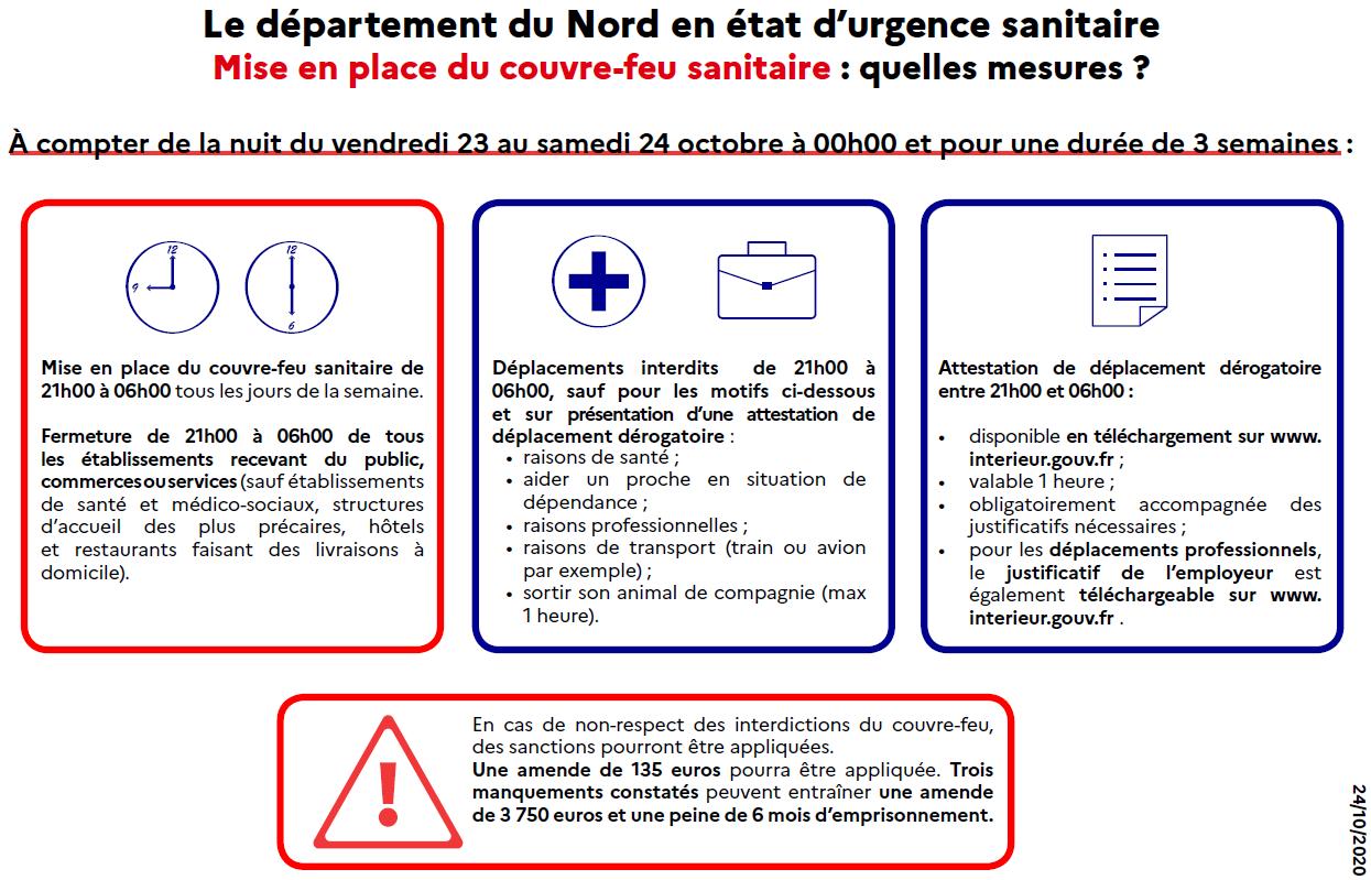 Covid 19 Extension Du Couvre Feu A L Ensemble Du Departement Du Nord Actualites Actualites Accueil Les Services De L Etat Dans Le Nord