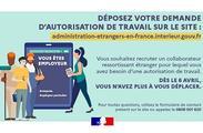 Modernisation et simplification des démarches pour les étrangers : la demande d'autorisation de travail se fait en ligne